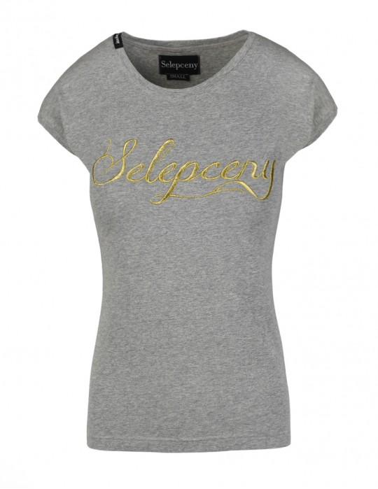 SELEPCENY BASIC GREY COTTON T-SHIRT