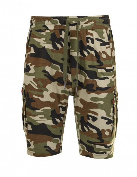 Woodland Sweat Shorts Camo Classic Green