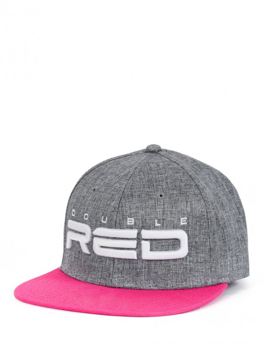 STREETGIRL DOUBLE RED Snapback Melange 3D Embroidery Grey/Pink