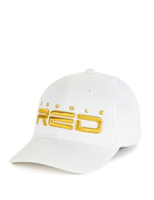 All Logo Metals Cap Goldforever White