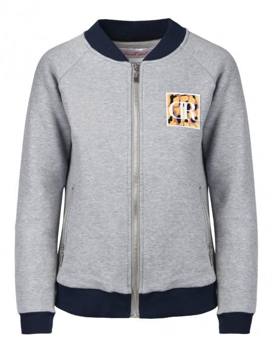 Bomber Sweatshirt Grey