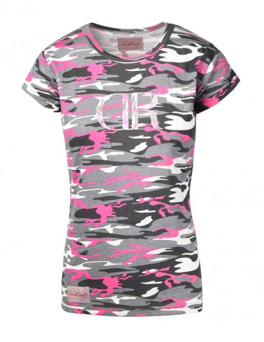 T-shirt Grey Pink Camo