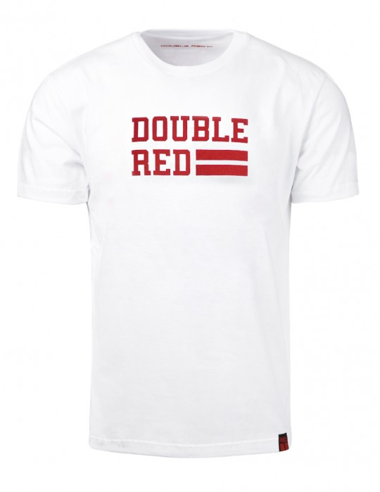 T-Shirt UNIVERSITY OF RED White