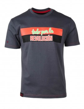 Šedé tričko LA REVOLUCIÓN