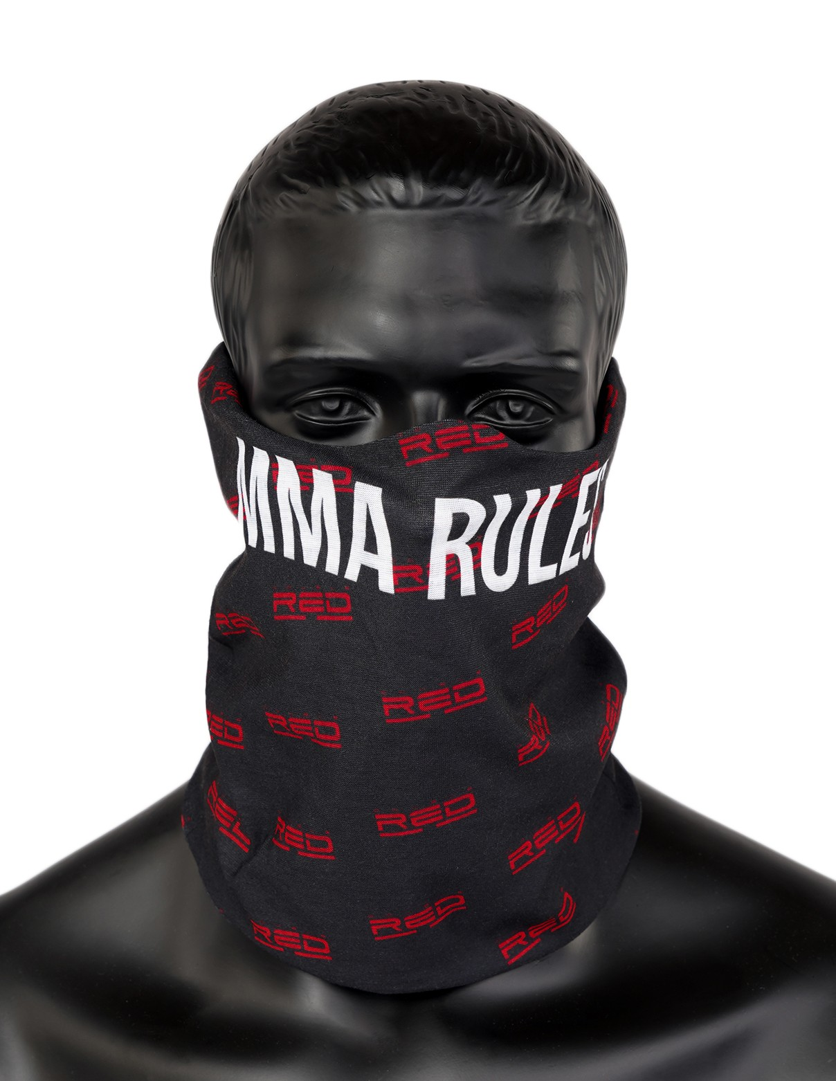 MMA RULES Full Logo Snood Black