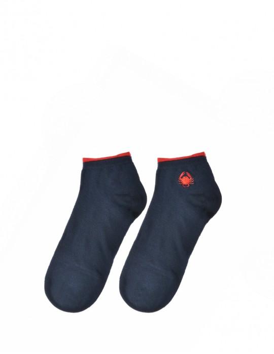 Men's FUN Low Cut Socks Red Crab