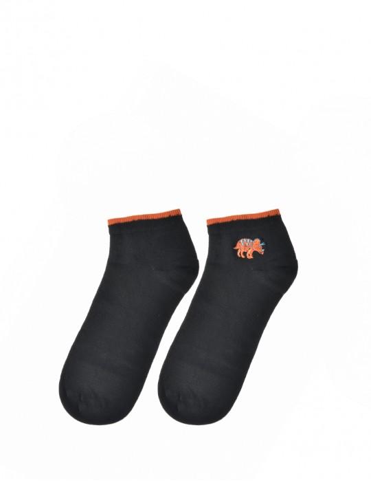 Men's FUN Low Cut Socks Red Dino