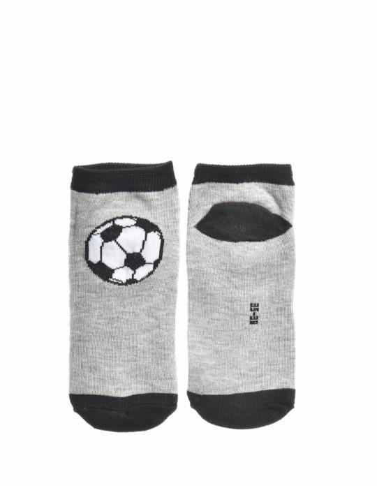KID Fun Socks Foot-ball Grey