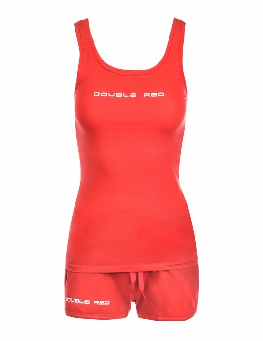 DOUBLE RED Basic Summer Outfit Red