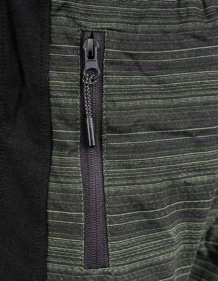 Shorts Kung-Fu Master Stripes Green