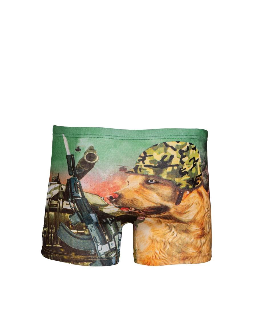 2FUN Boxers Army Dog Green