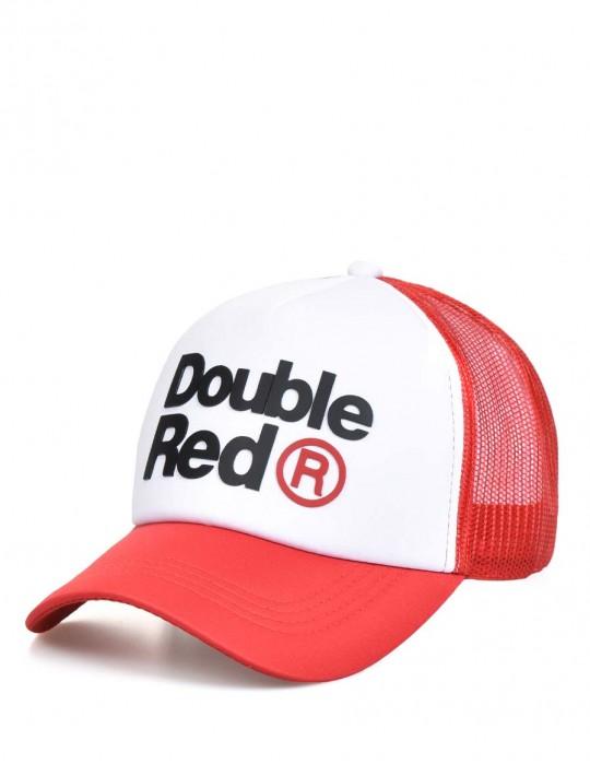 DOUBLE RED Trademark Trucker Cap Red/White